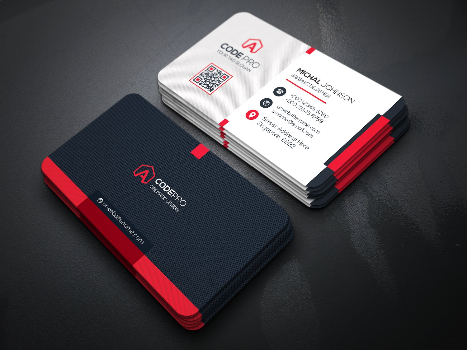 500 business cards - Photo Business Cards